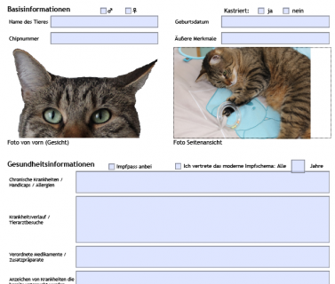 Haustier-Notfall-Steckbrief 3.0 Vorschau