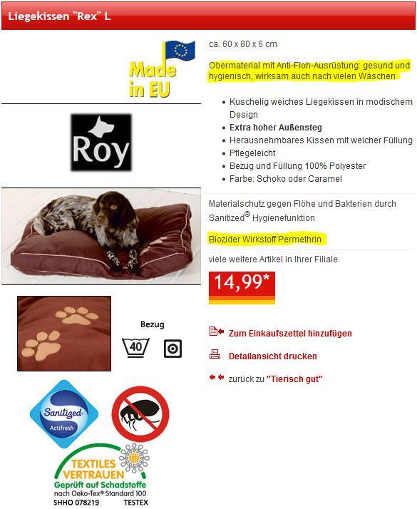 LiJaLuJi: Wichtige Gesundheitswarnung für Katzen [Hundebettchen beim Discounter]