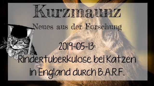 2019-05-13: Mehrere Katzen in England durch B.A.R.F. an Rindertuberkulose erkrankt